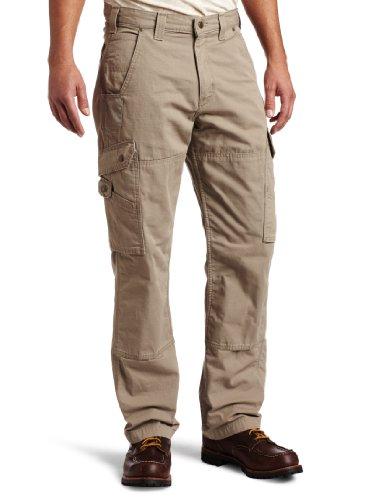 Carhartt Men's Ripstop Cargo Work Pant, Desert, 34W x 32L