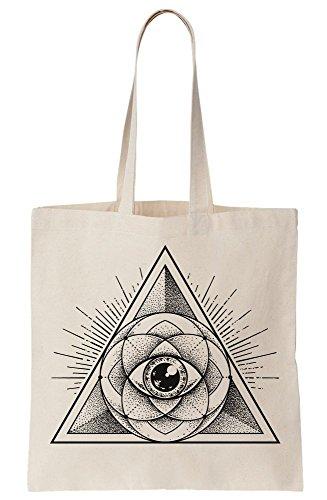 Bag Design Flower Eye Lotus Pyramid Illuminati Style Tote Tattoo Triangle Canvas 1qwvfaf