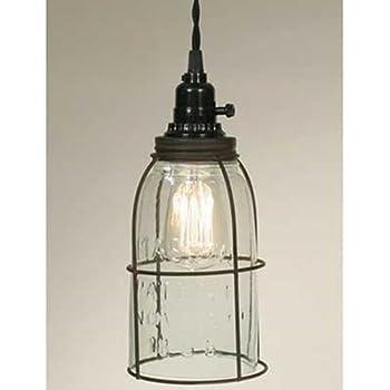 Amazon.com: Mason Jar – Lámpara de techo Kit en WEATHERED ...