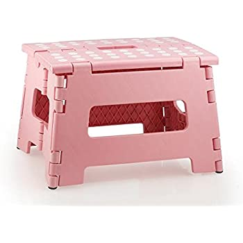 High Quality Non Slip Folding Step Stool For Kids and Adults with Handle-  sc 1 st  Amazon.com & Amazon.com: Greenco Super Strong Foldable Step Stool for Adults ... islam-shia.org