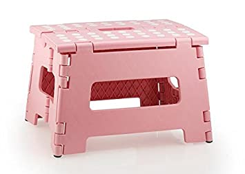 StepSafe® High Quality Non Slip Folding Step Stool For Kids and Adults with Handle- 9 in Height, Holds up to 300 Lb! (black) SYNCHKG061495