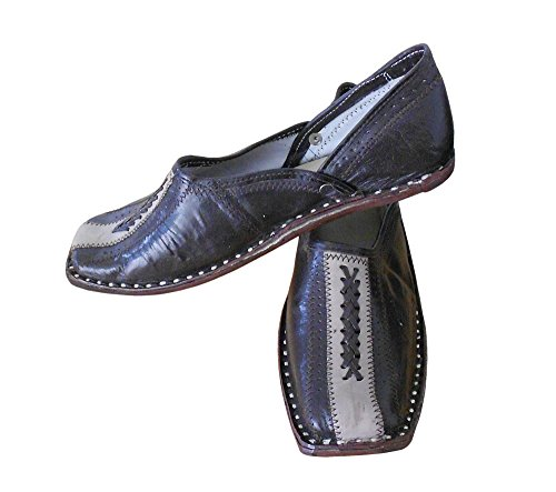 Kalra Creations Men's Traditional Indian Mojari Leather Loafer Flats Brown mjWrn