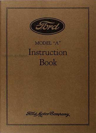 1929 Ford Model A & AA Reprint Owner's Manual 29 Car & Pickup Truck