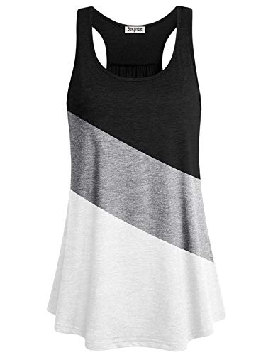 - Becanbe Tops for Women,Juniors Altheisure Wear Relaxed Fit Sleeveless Shirts Ladies Running Comfy Soft Tunic Tees Grey XL