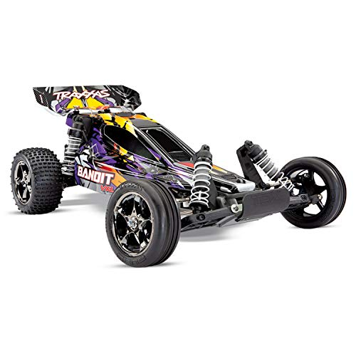 Bandit VXL: 1/10 Scale Off-Road Buggy with TQi Traxxas Link Enabled 2.4GHz Radio System & Traxxas Stability Management (TSM) -  24076-4-PRPL