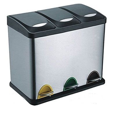Evre Recycling Bin With Lids For Kitchen 24 Litre Capacity 3