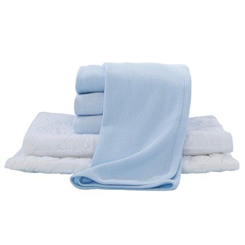American Baby Company Portable/Mini Crib Starter Set, Blue