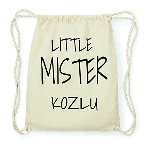 JOllify KOZLU Hipster Turnbeutel Tasche Rucksack aus Baumwolle - Farbe: natur Design: Little Mister