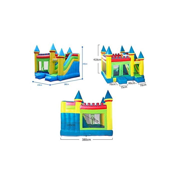 41XqtGqFgZL ● 【Múltiples áreas de actividad】 : Este castillo inflable tiene forma de caricatura, un aro de baloncesto, un tobogán, etc., que no solo permite que los niños disfruten de una variedad de diversión, sino que también ayuda al desarrollo de la altura del niño y también puede resolver el problema.Problemas de los padres. ● 【Material de calidad】 : El castillo inflable está hecho de material oxford, que es seguro y ecológico.El diseño de doble costura hace que este castillo inflable sea más fuerte. ● 【Diseño de seguridad】 : La altura del trampolín está diseñada para garantizar la seguridad de los niños mientras juegan y para permitir la máxima ventilación.Más importante aún, a través de los juguetes, los padres pueden prestar atención a la dinámica del niño en tiempo real para evitar accidentes.