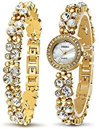 (Time100 Women's WatchesBracelet Diamond Round Dial Watch Ladies Fashion Dress Watches Wrist Watches for Women)