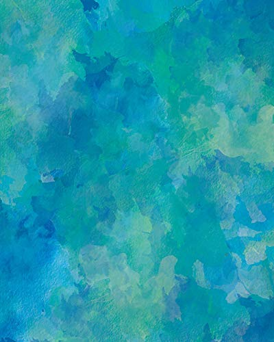Sketch Journal: Blue Green Watercolor 8x10 - Pages