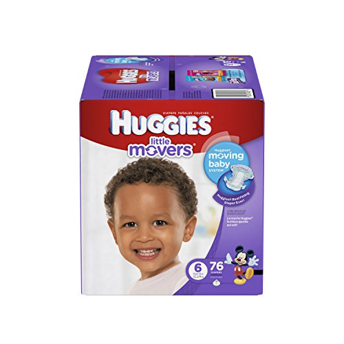 Huggies Little Movers Diapers Step 6, Giant Pack, 76 Count