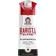 Califia Farms Original Almondmilk Barista Blend, 32 Oz (Pack of 6), Dairy Free, Plant Milk, Vegan, Non-GMO