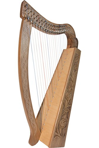Roosebeck 19-String Pixie Harp Irish Celtic Style - Walnut by Roosebeck