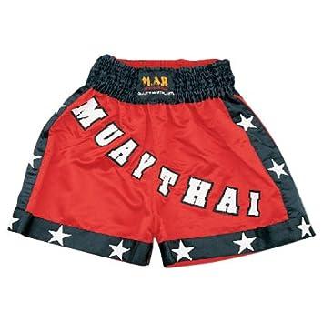 Kick Boxen /& Thai Boxing Shorts Kickboxen Hose MMA Hose Boxen Kleidung Muay Thai K1/Gear Polyester Satin Stoff M.A.R International Ltd schwarz