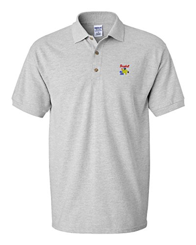 Speedy Pros Sport Baseball All Star Embroidery Polo Shirt Golf Shirt - Oxford Grey, 2X Large All Star Embroidered Jersey