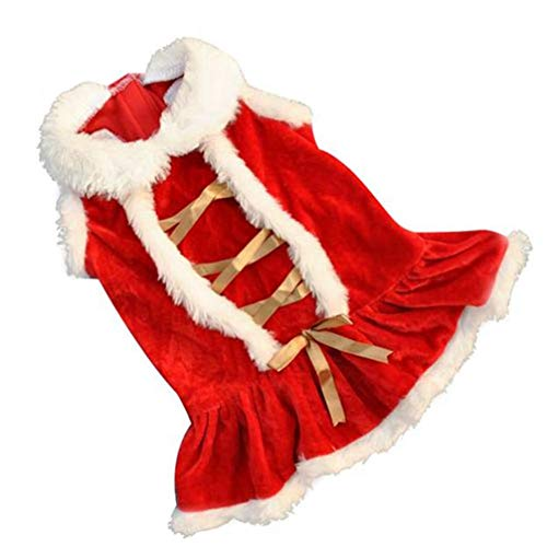 MEIZOKEN Red Christmas Dog Clothes Santa Doggy Costumes Clothing Pet Apparel