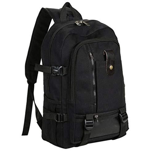 Casual Black Design Backpack Kanpola Color Canvas Vintage Backpacks Army Travel Men vIqU0xR