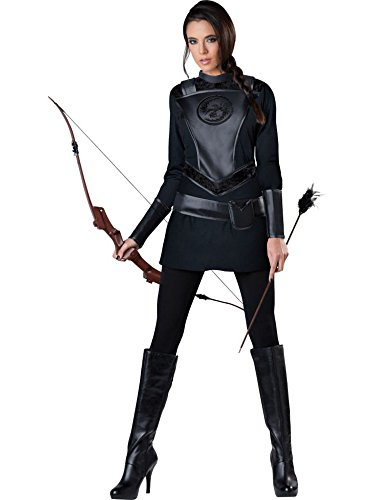Women's Arrow Costume (Fun World InCharacter Costumes Women's Warrior Huntress Costume, Black, X-Large)