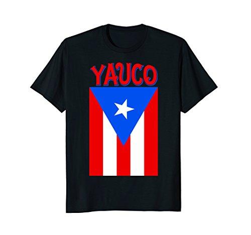 Puerto Rican | Yauco Puerto Rico Camisas Flag T-shirt