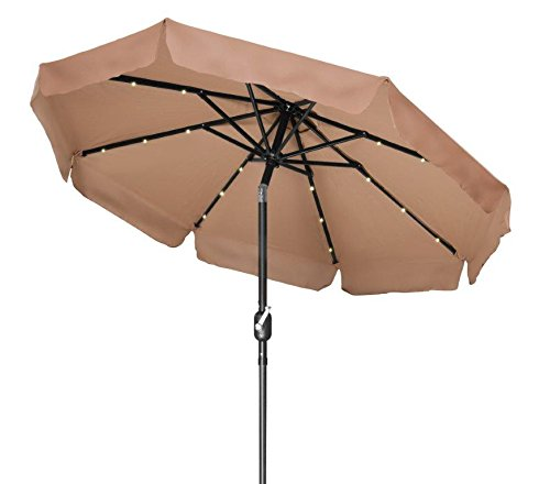 Deluxe Solar Powered Lighted Umbrella