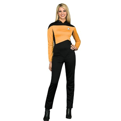 Secret Wishes Women's Star Trek The Next Generation Deluxe Operations Jumpsuit, Gold, Small ()