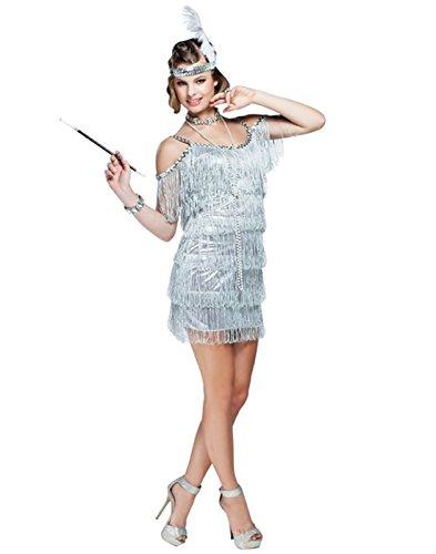 Make A Flapper Costume (Goddessey Manhattan Flapper Costume - SmallSilver)