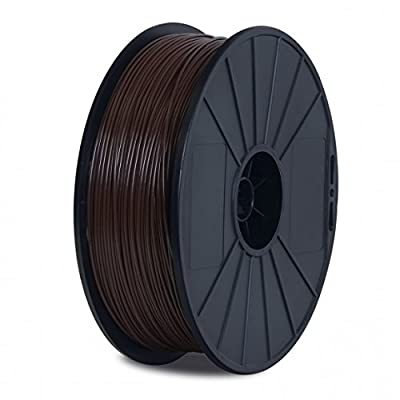 BuMat Dreamer PLA DPLABR-E Elite PLA Filament 1.75mm 1.5-Pounds Printing Material Supply Spool for FlashForge Dreamer 3D Printer, Brown Ink
