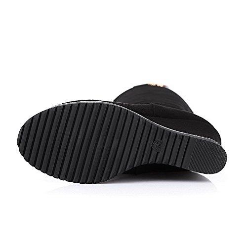 1TO9 Mns01876, Sandales Compensées Femme Noir