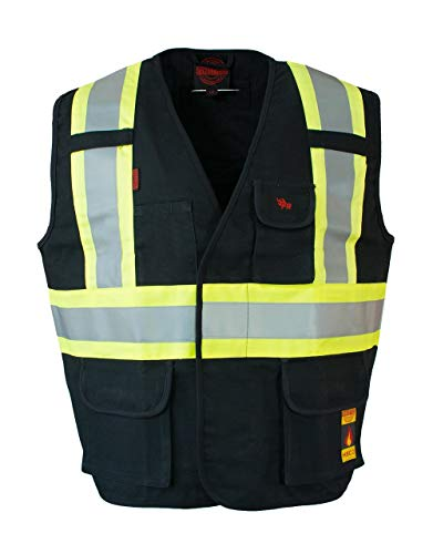 Fire Resistant (FR) Cotton Duck Hi Vis Safety Vest by ForceField