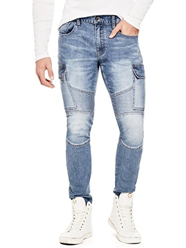 G by GUESS Men's Vibe Modern Cargo Skinny Jeans (Guess Men Jeans)