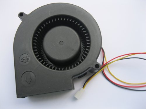 2 pcs Brushless DC Blower Fan 9733S 12V 3 Wires 97x97x33mm Sleeve-bearing Skywalking