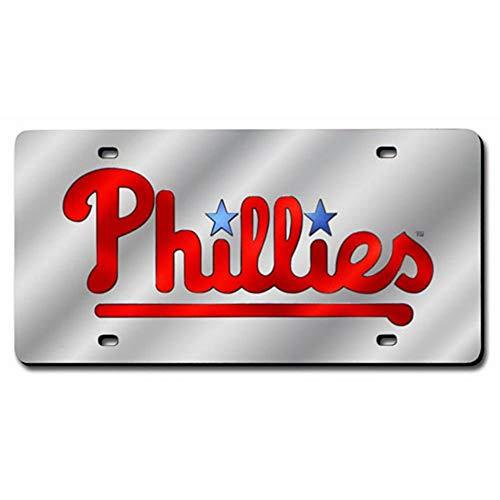 NFL Philadelphia Phillies Laser Cut Auto Tag, Silver