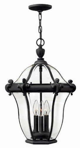 Hinkley 2442MB, San Clemente Cast Aluminum Outdoor Ceiling Lighting, 120 Total Watts, Black