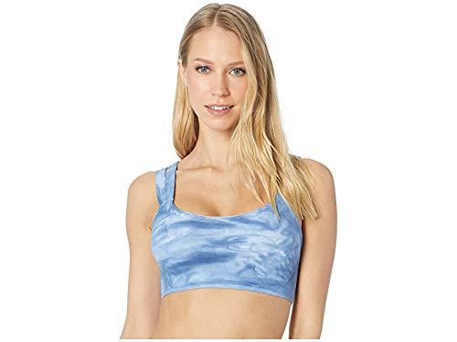 Free People Women's On The Radar Tie Dye Sports Bra, Dark Blue, ()