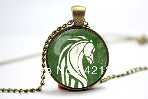 Dome Inspired (Pretty Lee 2015 Fashion Lord Of The Rings Rohan Flag Banner Inspired Glass Cabochon Dome Pendant Christmas gift)