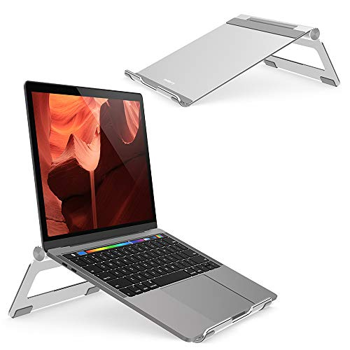 Nulaxy Adjustable Multi-Angle Laptop Stand Compatible with MacBook Pro/Air, Apple Laptop, 7-17