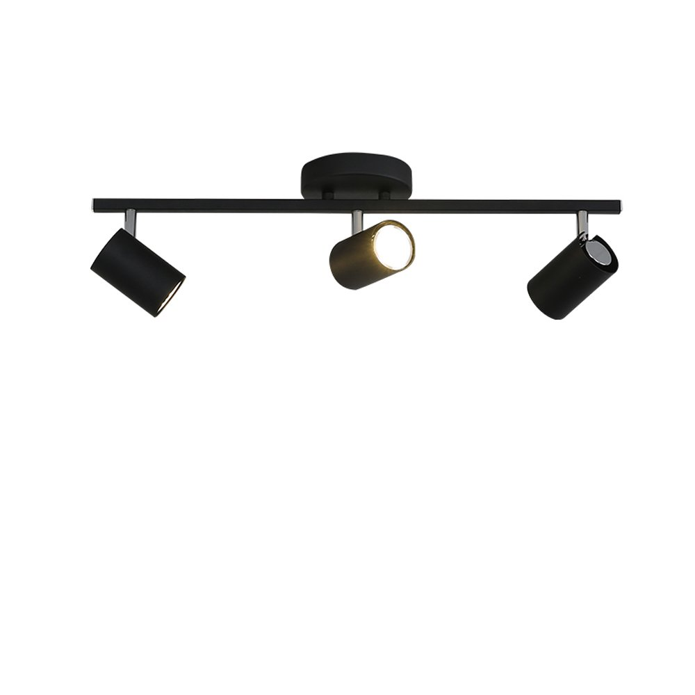 KMYX Nordic Ceiling Mounted LED Track Lights Living Room TV Background Wall Clothing Store Cloakroom Ceiling Spotlight Mural Spot Lamp Adjustable Lamp Cap Wall Mounted Security Lights