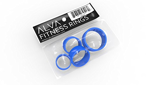BLUE ALVA Fitness Silicone Wedding Ring for Men and Women With Active Lifestyle ★ All packages contain 4 ring sizes, Don't need to know your ring size ★ White, Blue, Purple, Brown, Black ★ Lifetime Guarantee