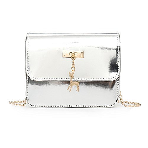 Bag Deer Messenger Silver Shoulder Women Fashion Shoulder SOMESUN Crossbody Cross Bag Bags Small Body Laser Leather Bag dWqw6HO8