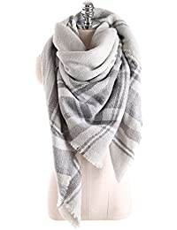 Women Tartan Scarf Stole Plaid Blanket Checked Scarves Wraps Shawl