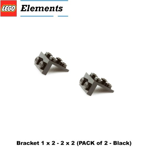 Lego Parts: Bracket 1 x 2 - 2 x 2 (PACK of 2 - Black)