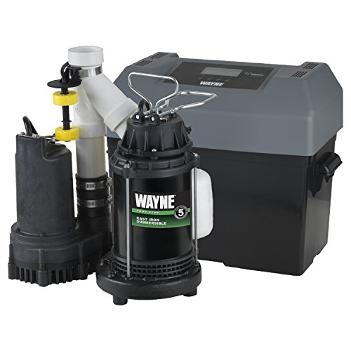 Wayne WSSM40V 1/2 hp Combination Primary and Backup Sump Pump System by Wayne