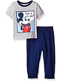 Disney Baby Boys' Mickey Mouse 2-Piece T-Shirt and Sweatpant Set