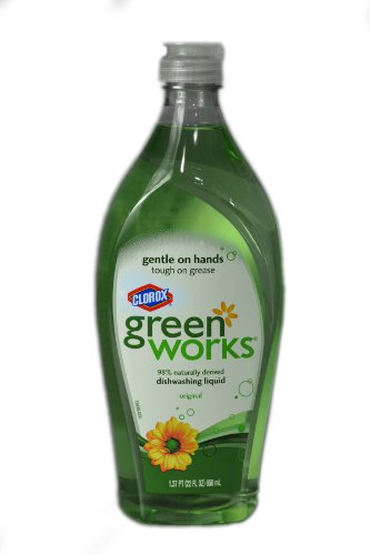Green Works 30168 Natural Dishwashing Liquid, 22 fl oz Bottle, Original