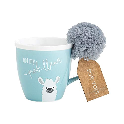 - Novelty Porcelain Mug with Pom Pom Accent (Not My Prob-llama)