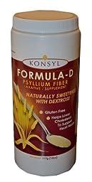 Konsyl Formula-d Psyllium Fiber 14oz (Pack of 4)