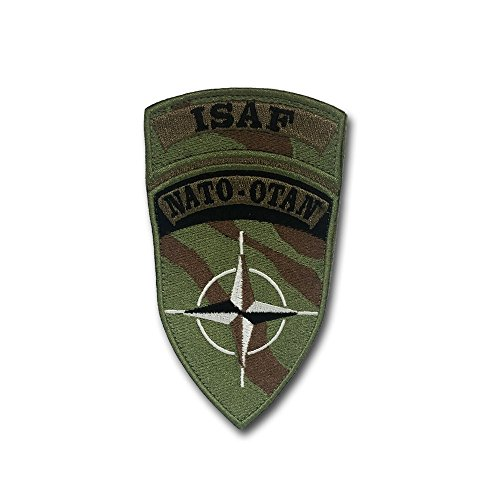 ISAF NATO Otan International Security Assistance Force Security Support Troop Army Soldiers Military Organization Badge Emblem 12x6,5cm- Patch/Patches