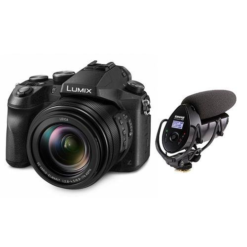 Panasonic Lumix DMC-FZ2500 Digital Point & Shoot Camera – Audio Kit with Shure VP83F LensHopper Camera-Mount Shotgun Microphone