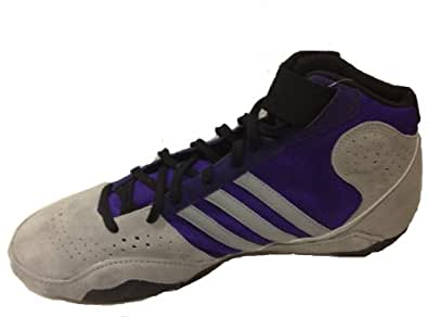 Adidas Protactic 2 Wrestling Shoes - Grey/Purple/Silver - ADULT SIZE 11